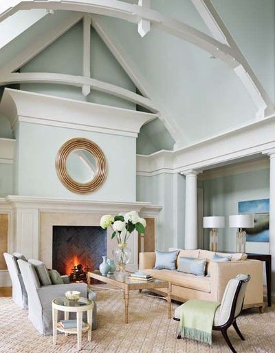 living room with vaulted ceiling arched trusses and