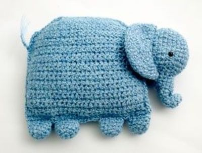 Diy Amirugurumi Elephant Pillow Free Crochet Pattern Easy