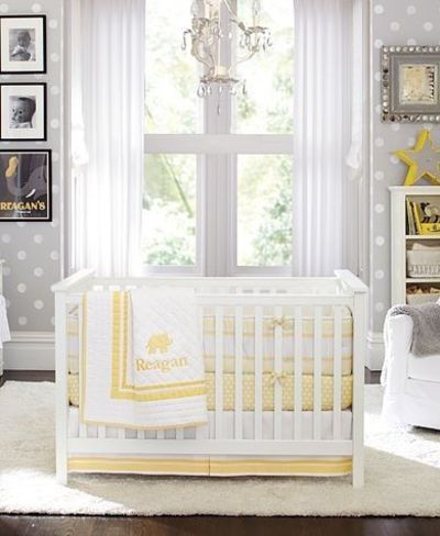 Grey And Yellow Nursery Kids Rooms Juxtapost