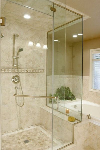 Like This Shower Next To Tub Bath Ideas Juxtapost