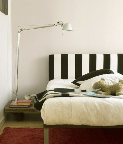 Black And White Striped Headboard