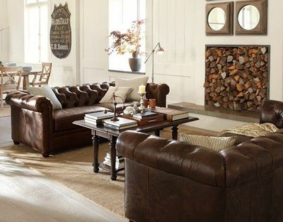 Chesterfield    2 Couches Living Room Layout Part 43