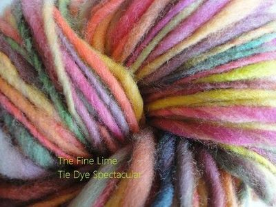 Hand Painted Handspun Soft Wool Yarn - Tie Dye Spectacular - Colorful Sock Fingering Weight