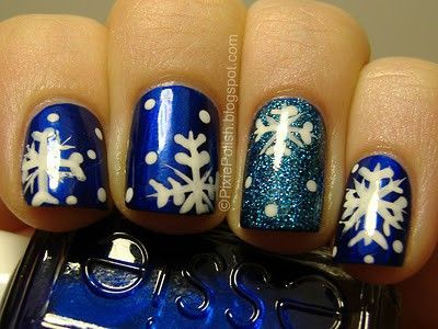 blue christmas nails - Blue Christmas Nails