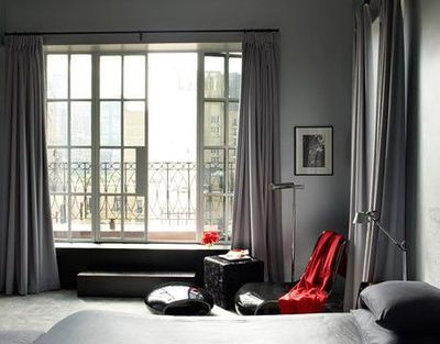 Curtains Ideas curtains for walls : Gray walls, gray curtains separated by texture / gray - Juxtapost