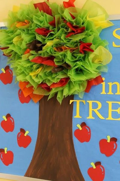 Apple Tree Classroom Ideas ~ Quot tree mendous apple with tissue paper cute