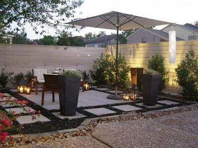 Garden patio idea simple paving slabs for my backyard Simple paving ideas