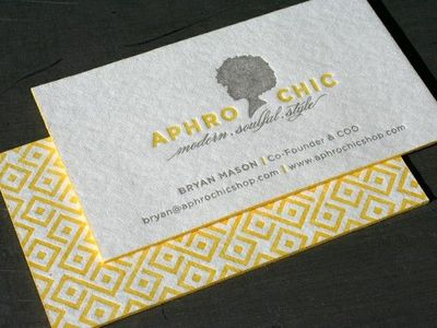 pretty, awesome design. letterpress business cards.