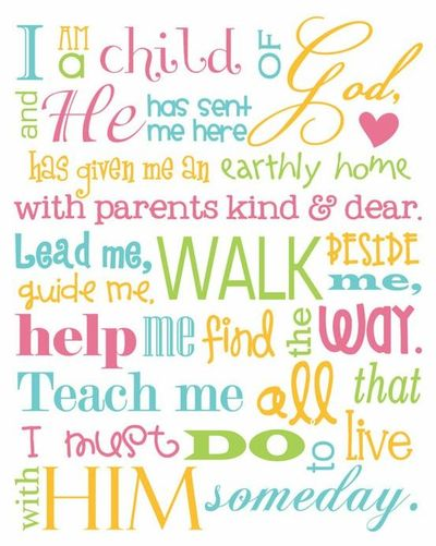 picture relating to I Am a Child of God Printable titled I am a baby of God / picture plans - Juxtapost