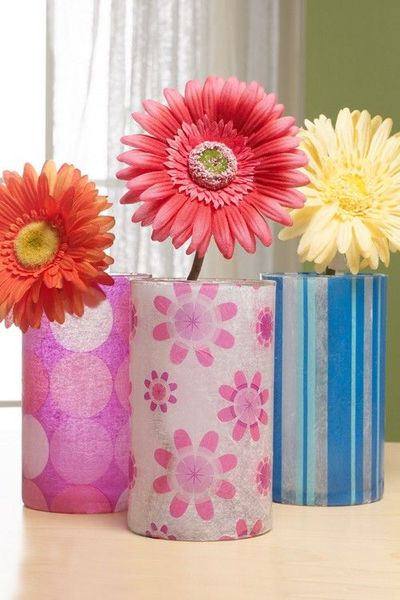 patterned tissue paper decoupage tissue paper decoupage vases use photo printed on tissue