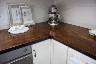stained ikea wood countertops