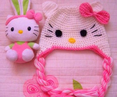 Hello Kitty Crochet Hat Crochet Ideas And Tips Juxtapost