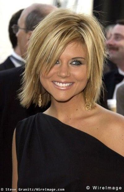 Tiffani Amber Thiessen cute shaggy bob