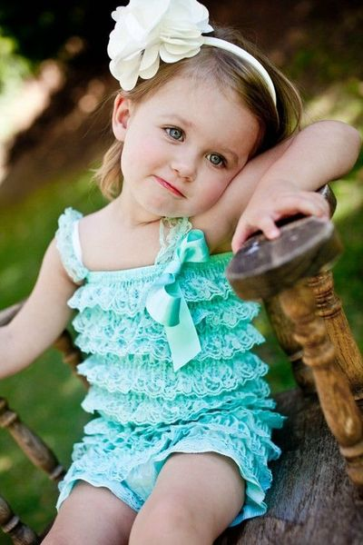 4c6383c8a Petti Romper in Aqua Vintage Lace by ChubbyBaby on Etsy, $27 ...