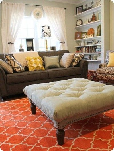 Turn a coffee table into a tufted ottoman