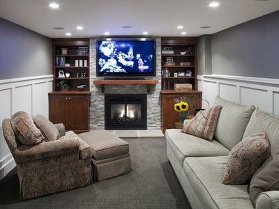 Love the use of the narrow space - basement ideas / For the