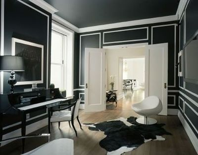 Wow Black Walls With White Trim I Love The Look But