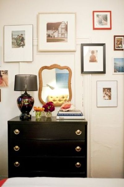 gallery wall from joanna goddard's (cup of jo)bedroom makeover