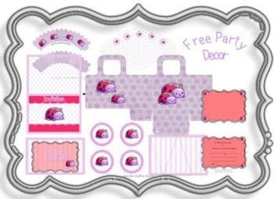 Free ladybug party pack