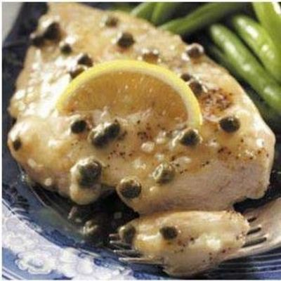 chicken breast with meyer lemon and caper cream sauce