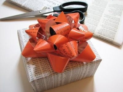 How to make gift bows from magazine paper.