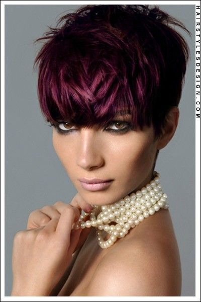 Short Burgundy Hair Color