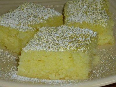 Two ingredient Lemon Bars. 1 box angel food cake mix 2 cans lemon pie filling (the recipe originally called for only 1 can) Mix dry cake mix and cans of pie filling together in large bowl (I just mixed it by hand) Pour into greased baking ...