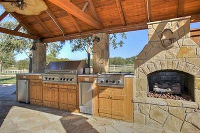 Outdoor Kitchen Better Make It Real Stone Or Timber Frame