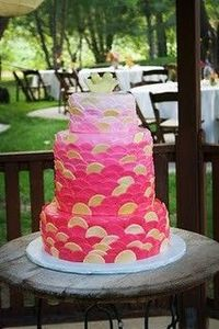 cake by pink peach cakes.