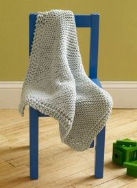 Loom Knit Diagonal Baby Throw
