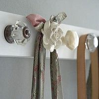 Super cute coat rack made from beautiful knobs.
