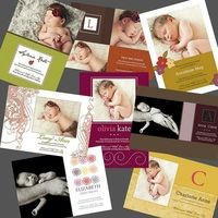 Girl Birth Announcements for photographers use
