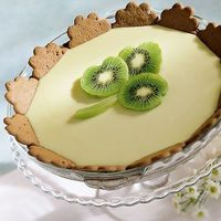 kiwi lime pie for St. Patrick's Day