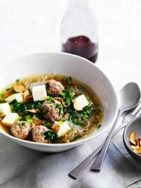 Chinese celery and pork soup