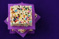 how to make cake batter rice krispy treats