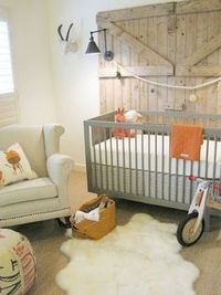 barn doors in the nursery??! awesome
