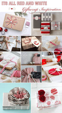 Red and White, Brown Paper, Brown Paper Packaging, Christmas Giftwrapping, Giftwrap Ideas, Giftwrap Inspiration, inspiration, Moodboard, Styling, Wrapping presents from pocketfulofdreams.co.uk