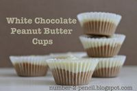 These white chocolate peanut butter cups are so simple.