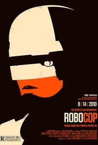 Robcop poster from Olly Moss' poster series for 2010 Rolling Roadshow Tour