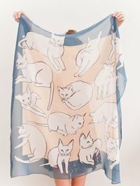 #thinkcolorfully picasso cats silk scarf