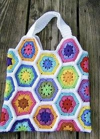 Posts similar to: crochet hexagon market bag pattern - Juxtapost