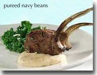 mashed navy beans...good idea