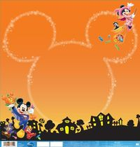 EK Success - Disney Collection - Halloween - 12 x 12 Double Sided Paper with Varnish Accents - Mickey Halloween at Scrapbook.com $1.09