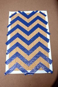 How to make a chevron door mat.