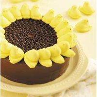 Peeps Sunflower Cake ... how adorable is this cake?
