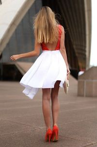 Red and white.