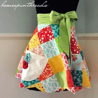 Pattern and tutorial for this apron, free.