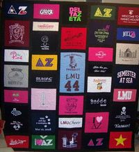 a DZ quilt! wish I could find all my DZ shirts. I have a few but stashed the rest-now I can't find them :(