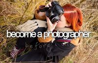 become a well known famous photographer