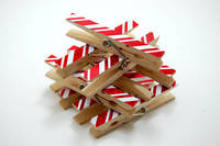 Christmas clothespins candy cane pattern set of 10 from etsy.com